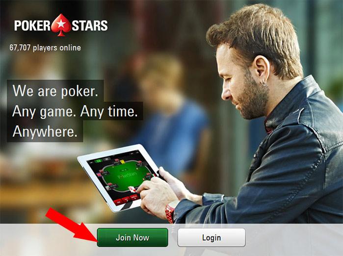 Đăng ký tài khoản PokerStars