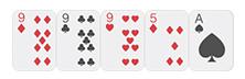 Bộ ba lá poker
