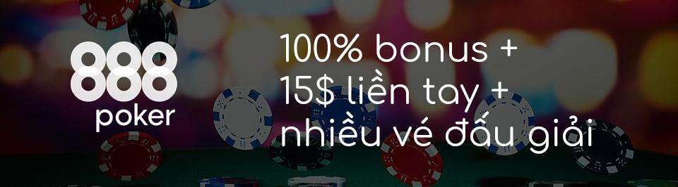 Khuyến mại nạp tiền lần đầu tại 888poker